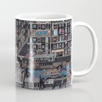 the neighbourhood Mugs featuring Parisian Neighbourhood by Guillaume Cornet