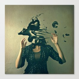 there's something wrong with my head Canvas Print