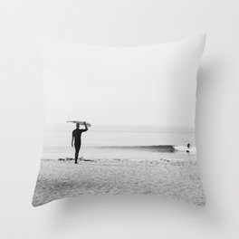 Surf Malibu Throw Pillow
