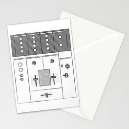 Dj Mixer illustration - 90s music equipment - sketch pop art drawing Stationery Cards