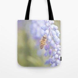 Purple Bee Tote Bag
