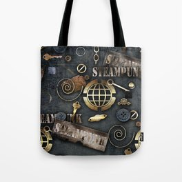 Mechanical steampunk grunge print. Tote Bag
