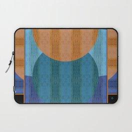 Orange Blues Geometric Shapes Laptop Sleeve