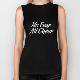 No Fear All Cheer Cheerleading Tumbler T-Shirt Biker Tank