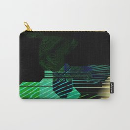 Abstract Alpha Grid Carry-All Pouch