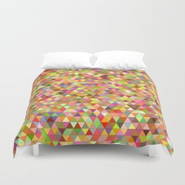 Happy summer triangles Duvet Cover