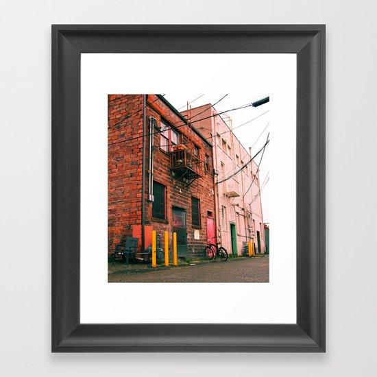Old urban buildings Framed Art Print