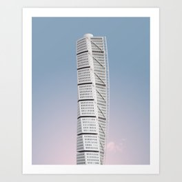 Turning Torso | Santiago Calatrava | #architecture #calatrava Art Print