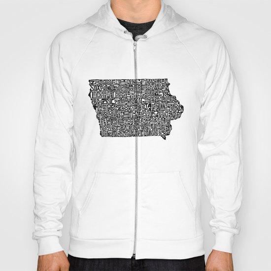 Typographic Iowa Hoody