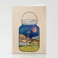collage Stationery Cards featuring Star Jar by Jenndalyn