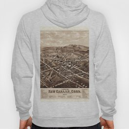Map Of New Canaan 1878 Hoody