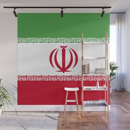 Iran flag emblem Wall Mural