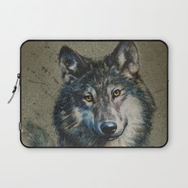 Wolf 2 background Laptop Sleeve