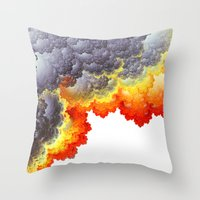 fifth element Throw Pillows featuring Element by Andi_GreyScale