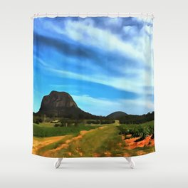 Glass House Mountains Shower Curtain
