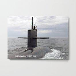 USS ALASKA (SSBN-732) Metal Print