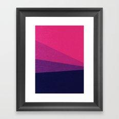 Stripe VII Ultraviolet Framed Art Print