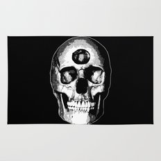 Third Eye Bones (Black and White Edition) Rug