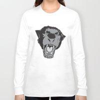 panther Long Sleeve T-shirts featuring Panther by Taranta Babu