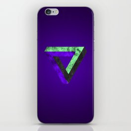 The infinity triangle inverted iPhone Skin