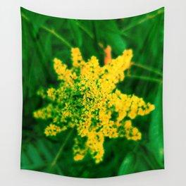 Yellow Sumac Bloom Wall Tapestry
