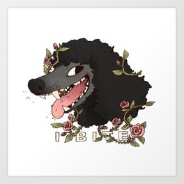 I Bite (Black) Art Print