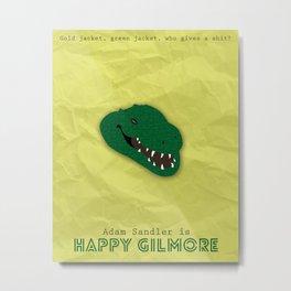 Happy Gilmore Minimalist Movie Poster Metal Print