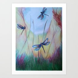 Dragonflies for Lisa Art Print