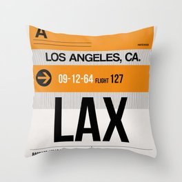 LAX Los Angeles Luggage Tag 2 Throw Pillow