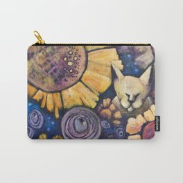 Cat hiding in sunflowers Carry-All Pouch