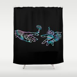 the Creation of Cannabis- holographic Shower Curtain
