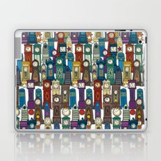 time and space white Laptop & iPad Skin