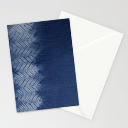 Shibori Chevron Stripe Stationery Cards