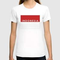 indonesia T-shirts featuring indonesia country flag name text by tony tudor