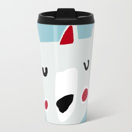 Cute holiday bear blue Travel Mug
