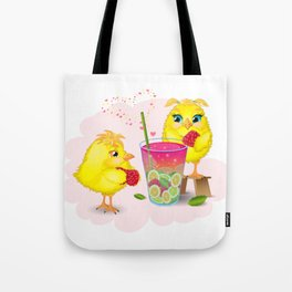 Chickens are preparing a magic elixir. Tote Bag