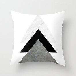 Arrows Monochrome Collage Throw Pillow