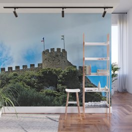 Medieval Castle Fortress Tower, Obidos Portugal Wall Mural