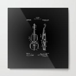 Violin Patent Metal Print