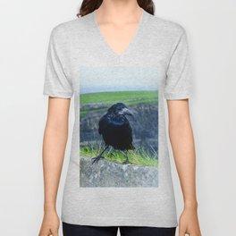 black raven Unisex V-Neck