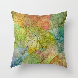 Autumn Rain Throw Pillow
