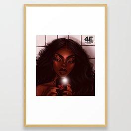 Bathroom $elfie Framed Art Print