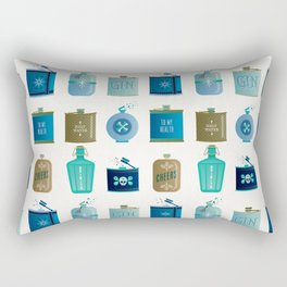 Flask Collection – Blue and Tan Palette Rectangular Pillow