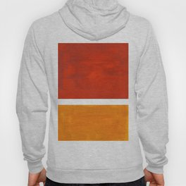 Burnt Orange Yellow Ochre Mid Century Modern Abstract Minimalist Rothko Color Field Squares Hoody