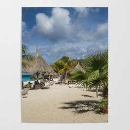 Curacao - Caribbean Island Beach Scene Poster