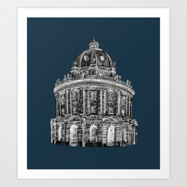 Radcliffe at night Art Print