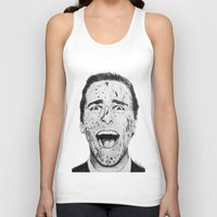 american psycho Tank Tops featuring American Psycho by Aoife Rooney Art