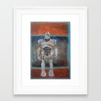 iron giant Framed Art Prints featuring Iron Giant and Rothko by Renee Bolinger
