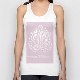 Power to The Pussy (Pink) Unisex Tank Top
