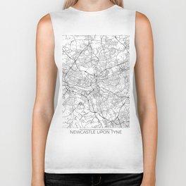 Newcastle Upon Tyne Map White Biker Tank